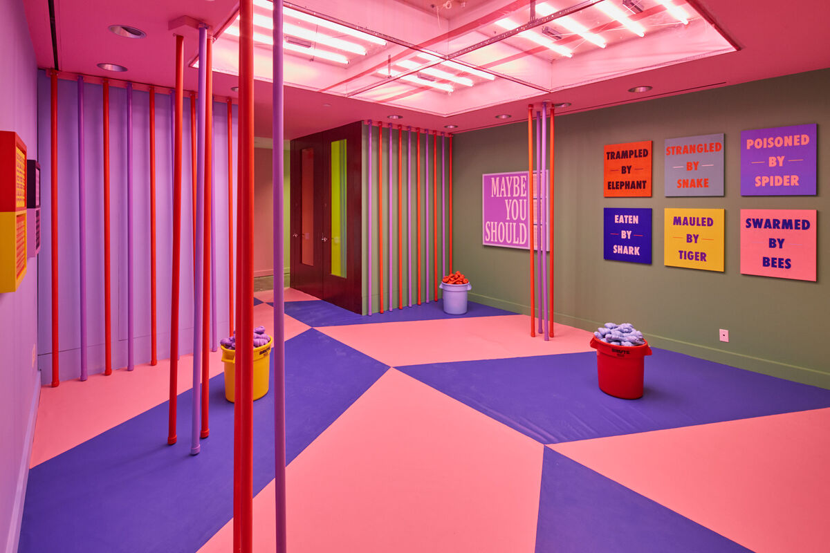"""a38091c7 Installation view of Eric Mistretta, """"The Wrong Place,"""" curated by Anna  Kustera"""