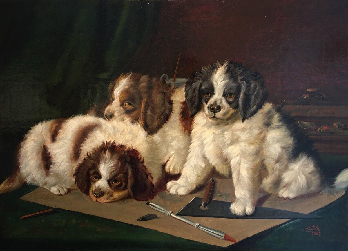 S. A. Cole, In the Studio, 1887. Courtesy of William Secord Gallery.