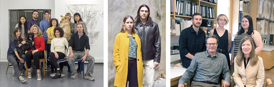 Left to right: The artists who run Underdonk; Bodega; and Pierogi.