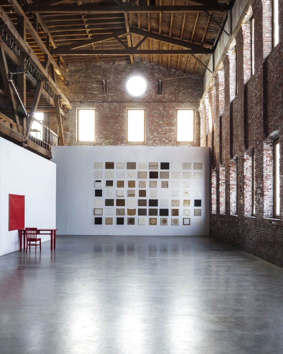 """Installation view of """"Dale Henry: The Artist Who Left New York"""" at Pioneer Works, 2014. Courtesy of Clocktower Productions."""