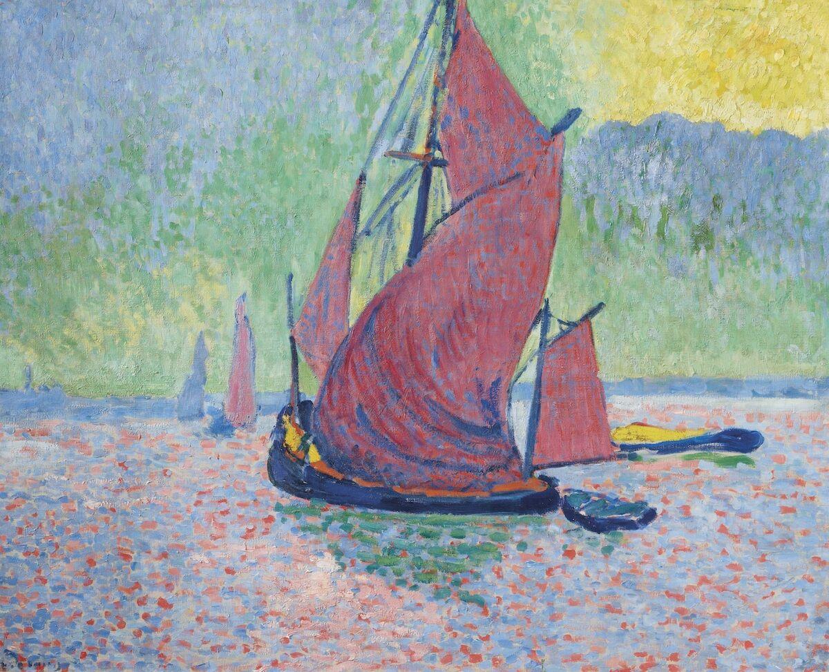 Andre Derain, Les Voiles Rouges, 1906. Courtesy Christie's.