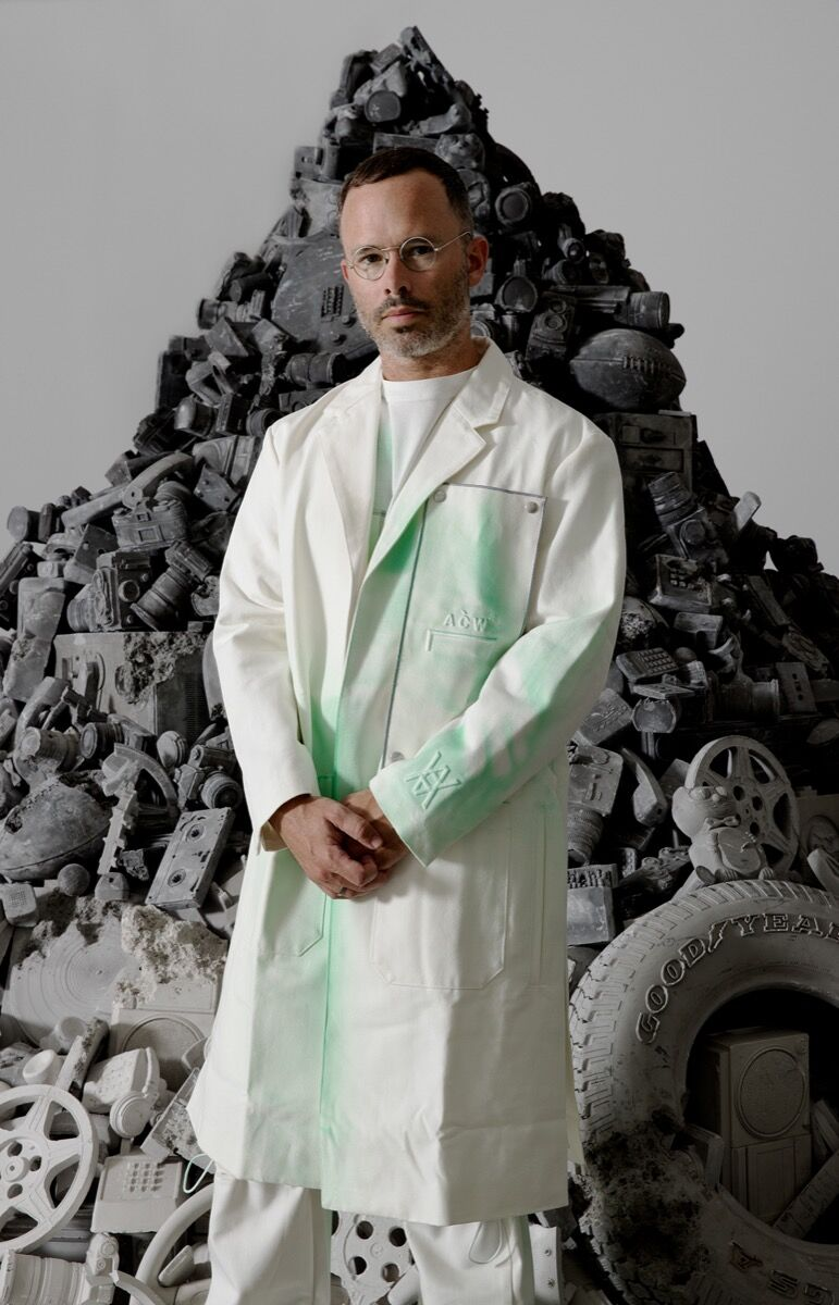 Portrait of the Daniel Arsham by James Law. Courtesy of the artist.