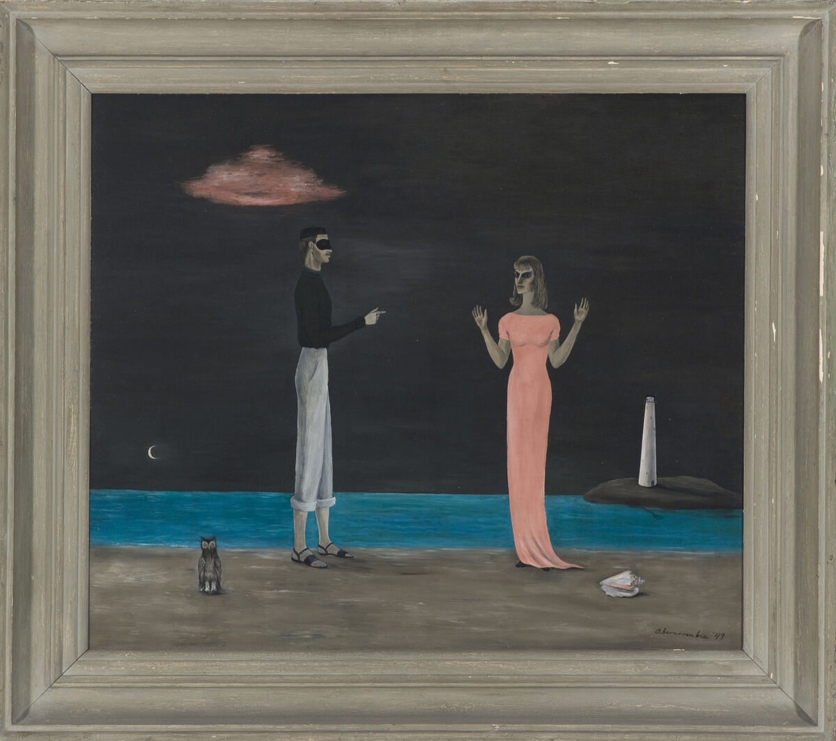 Gertrude Abercrombie, The Courtship, 1949. Collection of the Museum of Contemporary Art Chicago, gift of Gertrude Abercrombie Trust. Photo: Nathan Keay, © MCA Chicago. Courtesy of MCA Chicago.