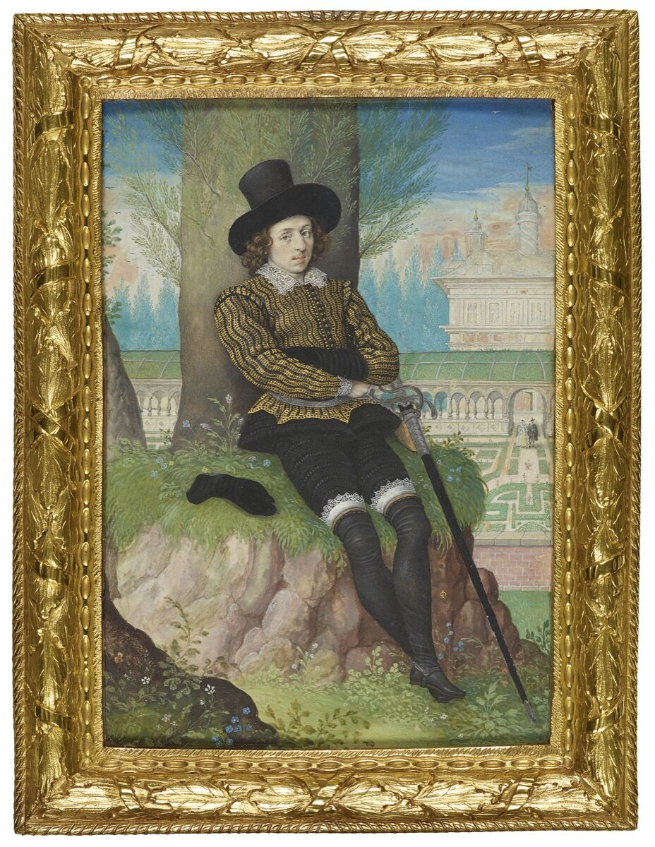 Isaac Oliver, Young Man Seated under a Tree, 1590–5. Royal Collection Trust. © Her Majesty the Queen Elizabeth II 2019.