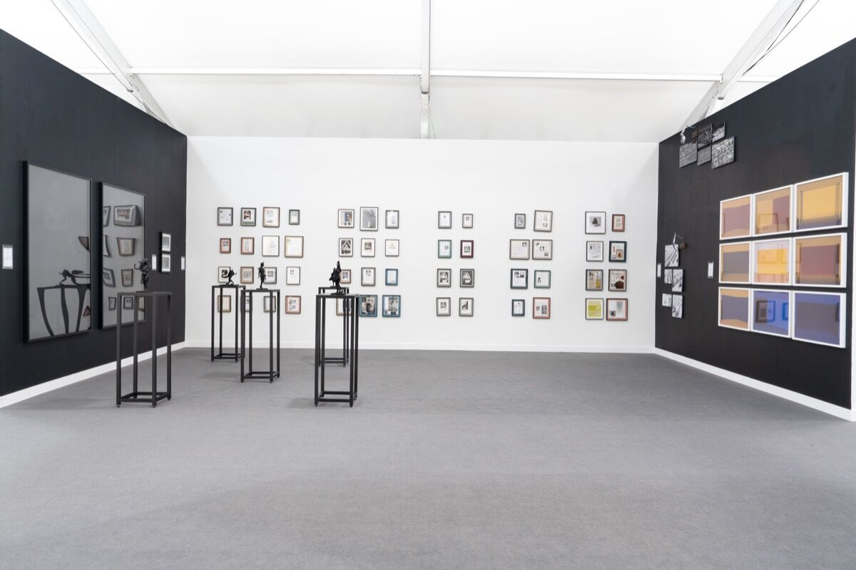 Installation view of Mor Charpentier's booth at Frieze New York, 2018. Courtesy of Sean Fader and Mor Charpentier.
