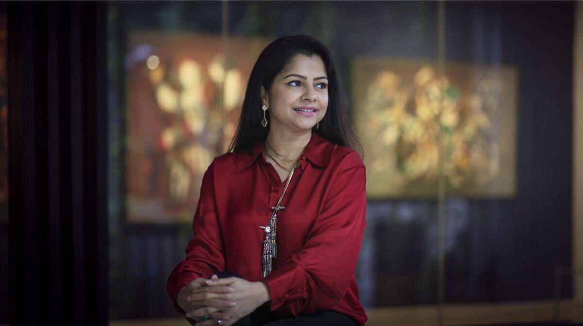 Portrait of Nadia Samdani by Noor Photoface. Courtesy of Samdani Art Foundation.