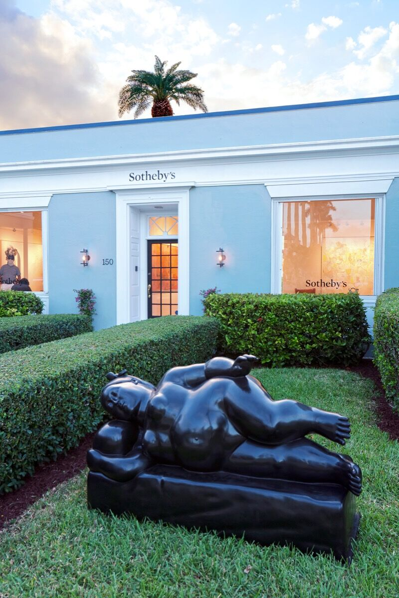 Exterior view of Sotheby's Palm Beach Gallery. Courtesy of Sotheby's.