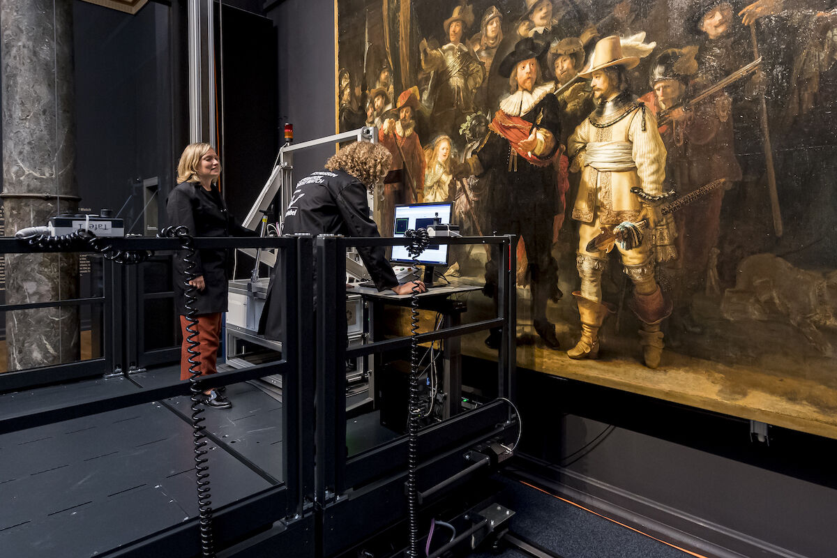 The start of Operation Night Watch. Photo courtesy Rijksmuseum.