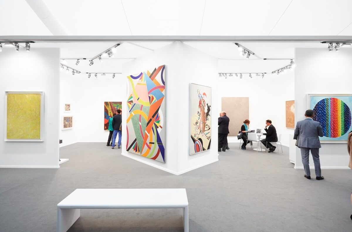 Installation view of Michael Rosenfeld Gallery's booth at Frieze Masters, 2017. Photo by Tom Carter for Artsy.