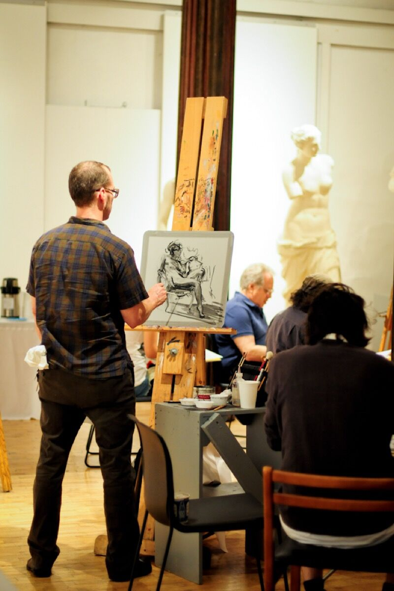 Will Cotton Drawing Party, 2012. Courtesy of the New York Academy of Art.