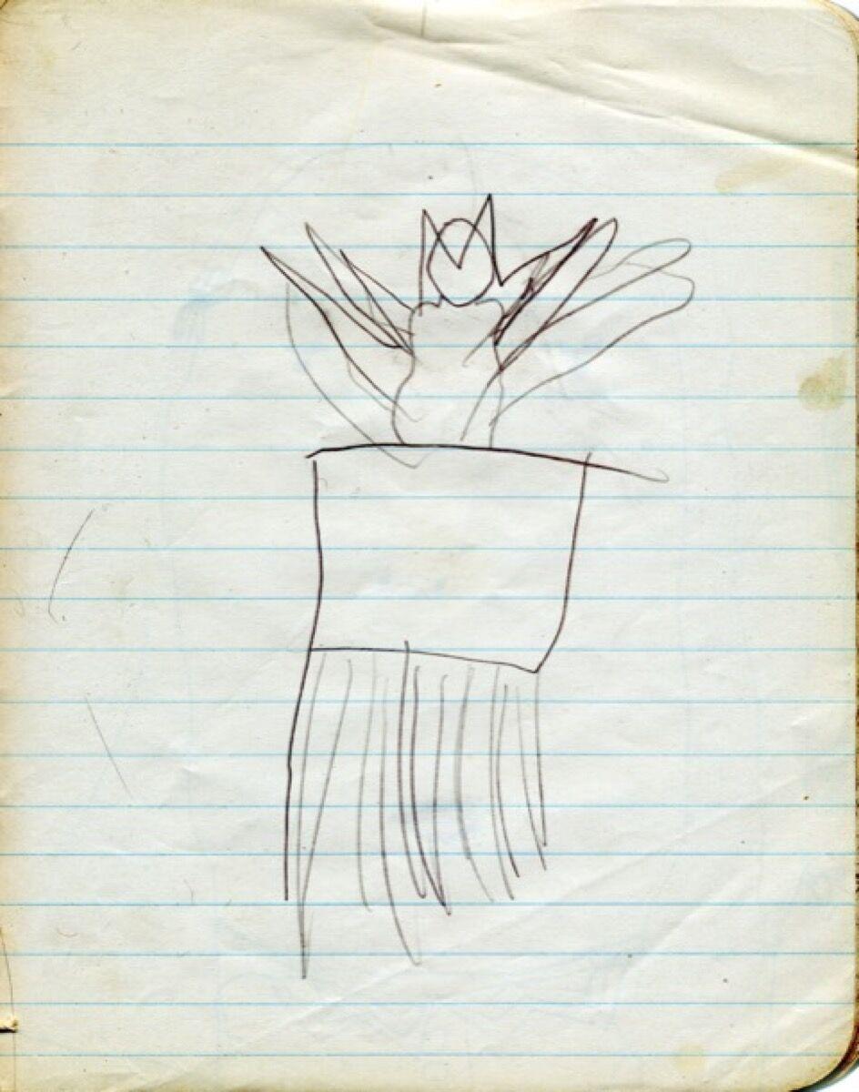 Carolee Schneeman, Exuberant Cat, drawn when she was four. Courtesy of the artist.
