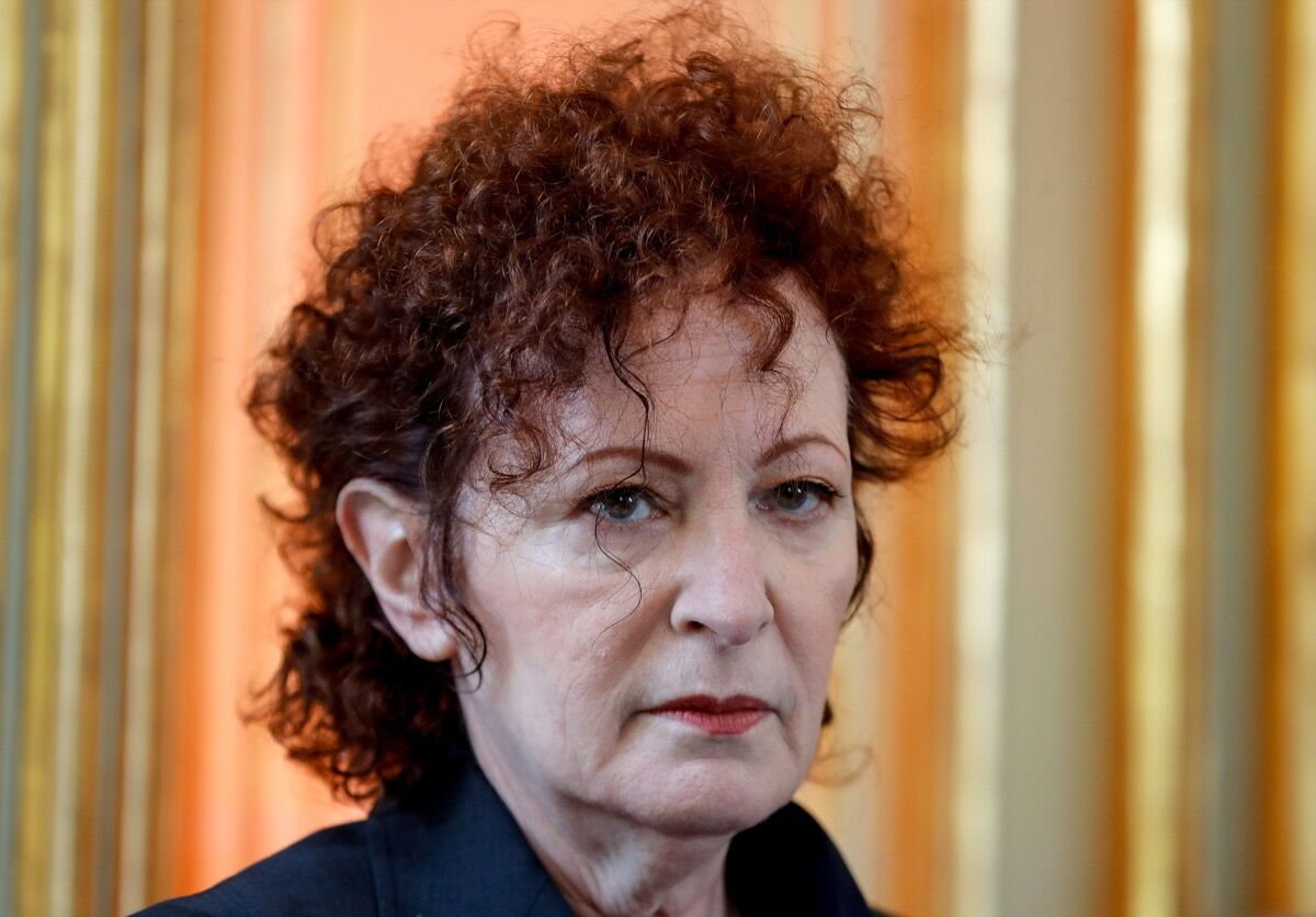 "Nan Goldin looks on during the exhibition ""Versailles-Visible/Invisible"", at the Palace of Versailles, western suburbs of Paris, on May 13, 2019. Photo by Francois Guillot / AFP /Getty Images."