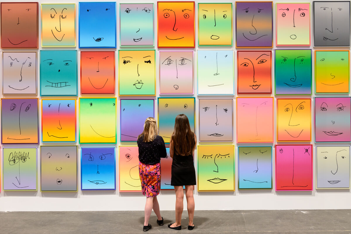 Works by Rob Pruitt, 2013, presented by Gavin Brown's enterprise at Unlimited, Art Basel. Photo by Getty Images for Rob Pruitt.