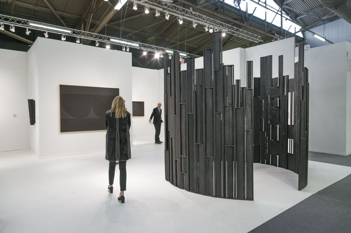 Installation view of Mazzoleni's booth at The Armory Show, 2016. Photo by Adam Reich for Artsy.