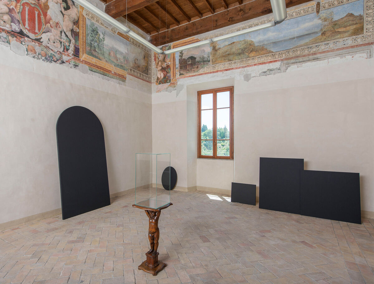 """Installation view ofPaolo Canevari,""""Monuments of the Memory, 2011 – 2015,""""curated by CURA., at GRANPALAZZO 2015."""