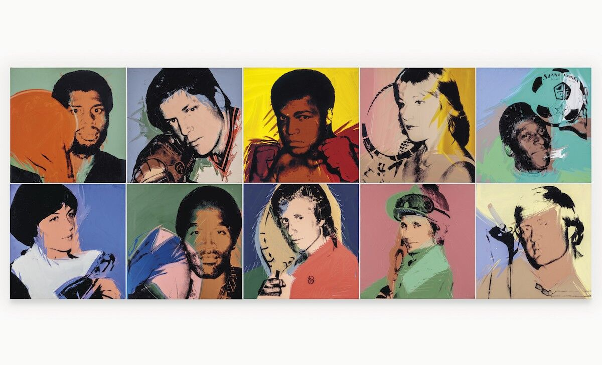 Andy Warhol, The Athletes, 1977–79. Courtesy Christie's Images Ltd.