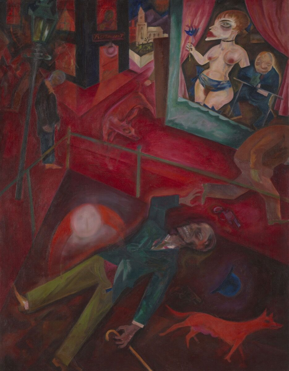 George Grosz, Suicide, 1916. © Estate of George Grosz, Princeton, New Jersey, 2018. Courtesy of Tate