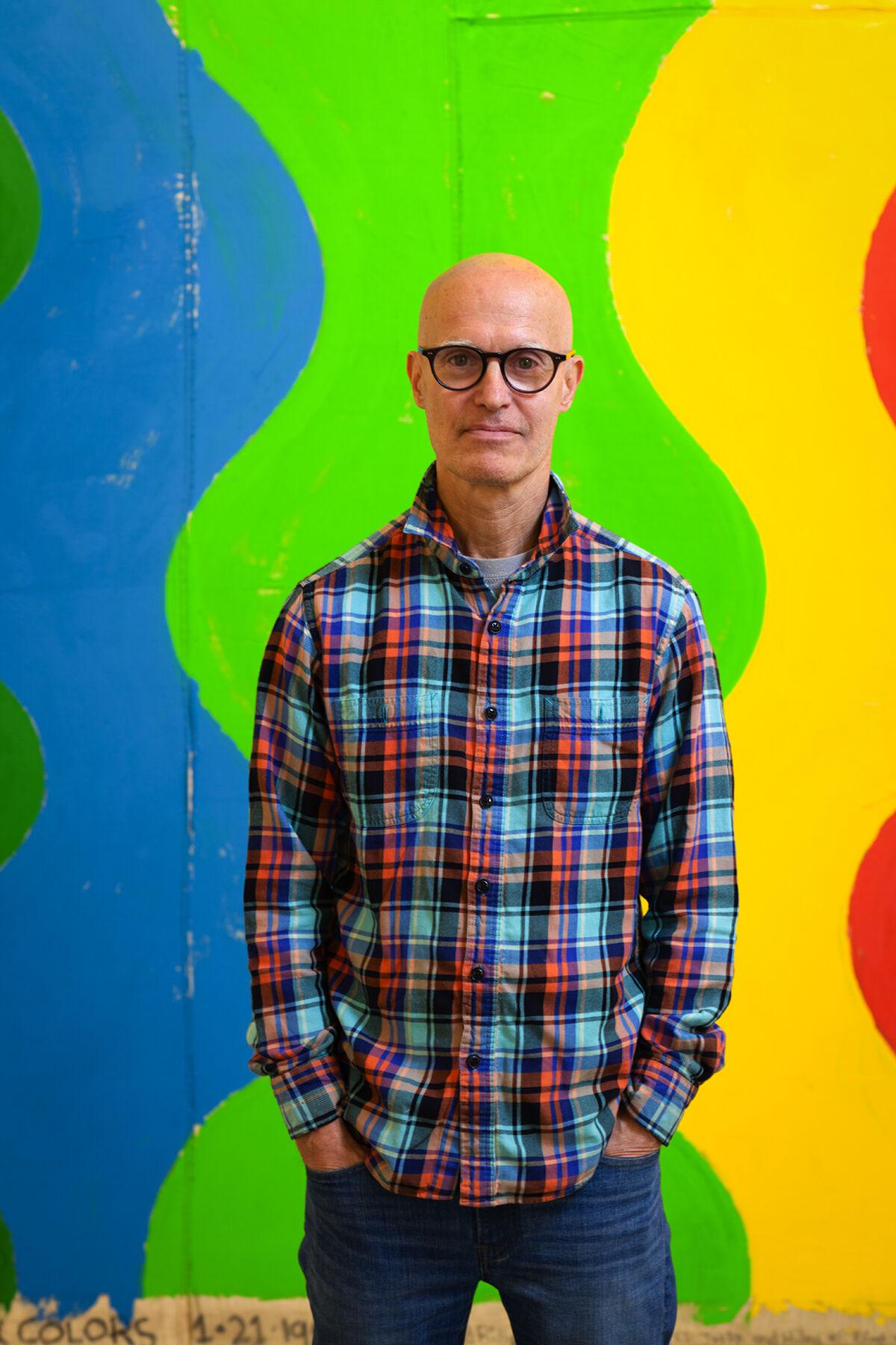 Portrait of Chris Martin. Photo by Fredrik Nilsen. Courtesy of David Kordansky Gallery, Los Angeles.