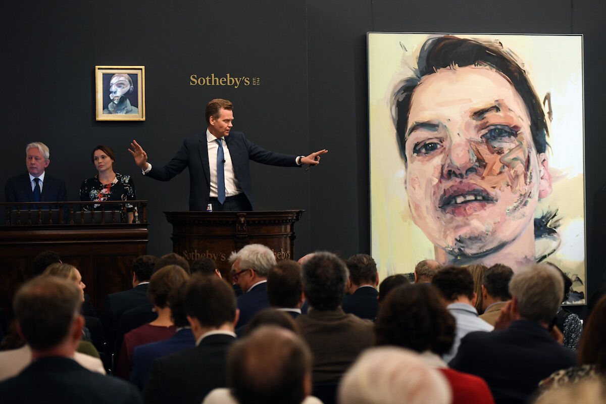 Sotheby's evening sale of post-war and contemporary art in London on June 26, 2019. Courtesy Sotheby's.