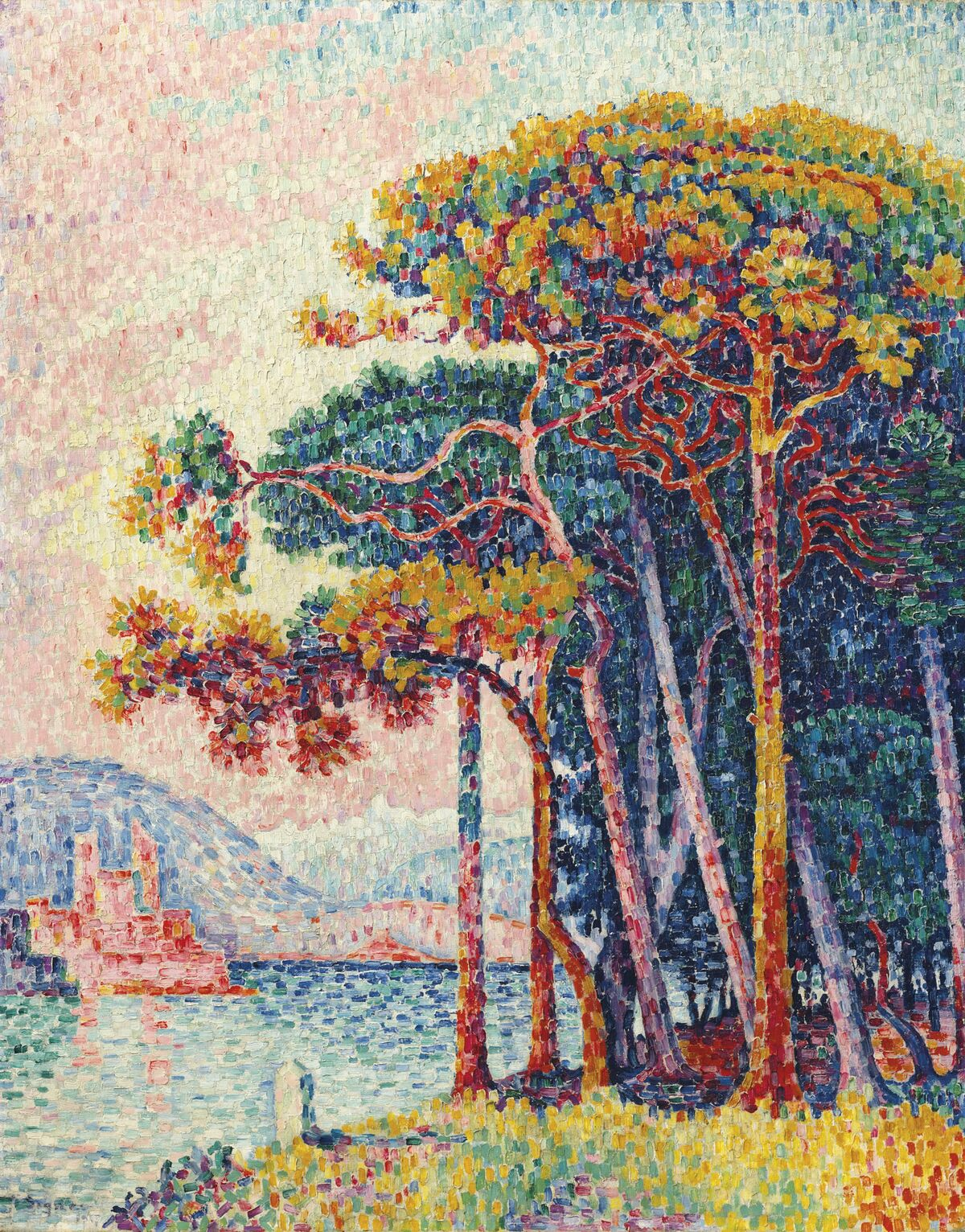 Paul Signac, Antibes (la pinède), 1917. From the Collection of Peggy and David Rockefeller. Courtesy of Christie's.