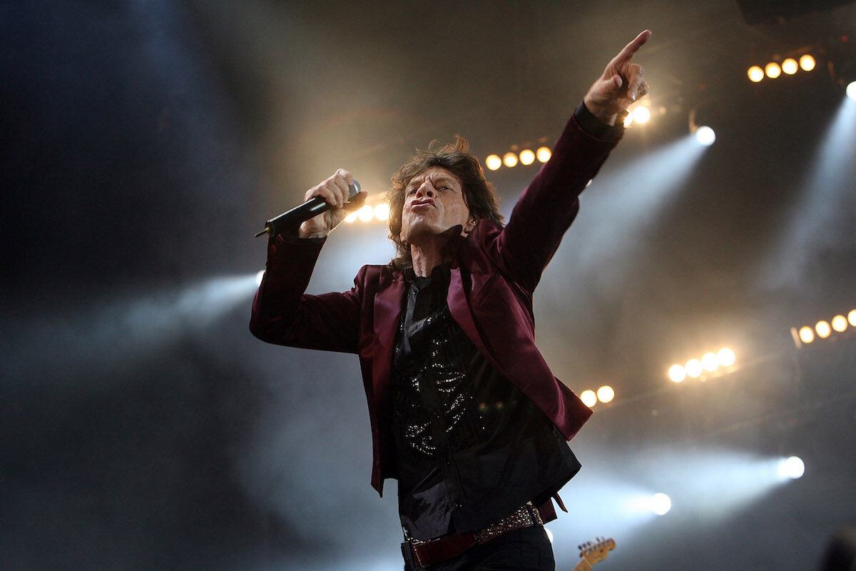Mick Jagger performs at a Rolling Stones concert in 2007. Photo by Matt Cardy/Getty Images.