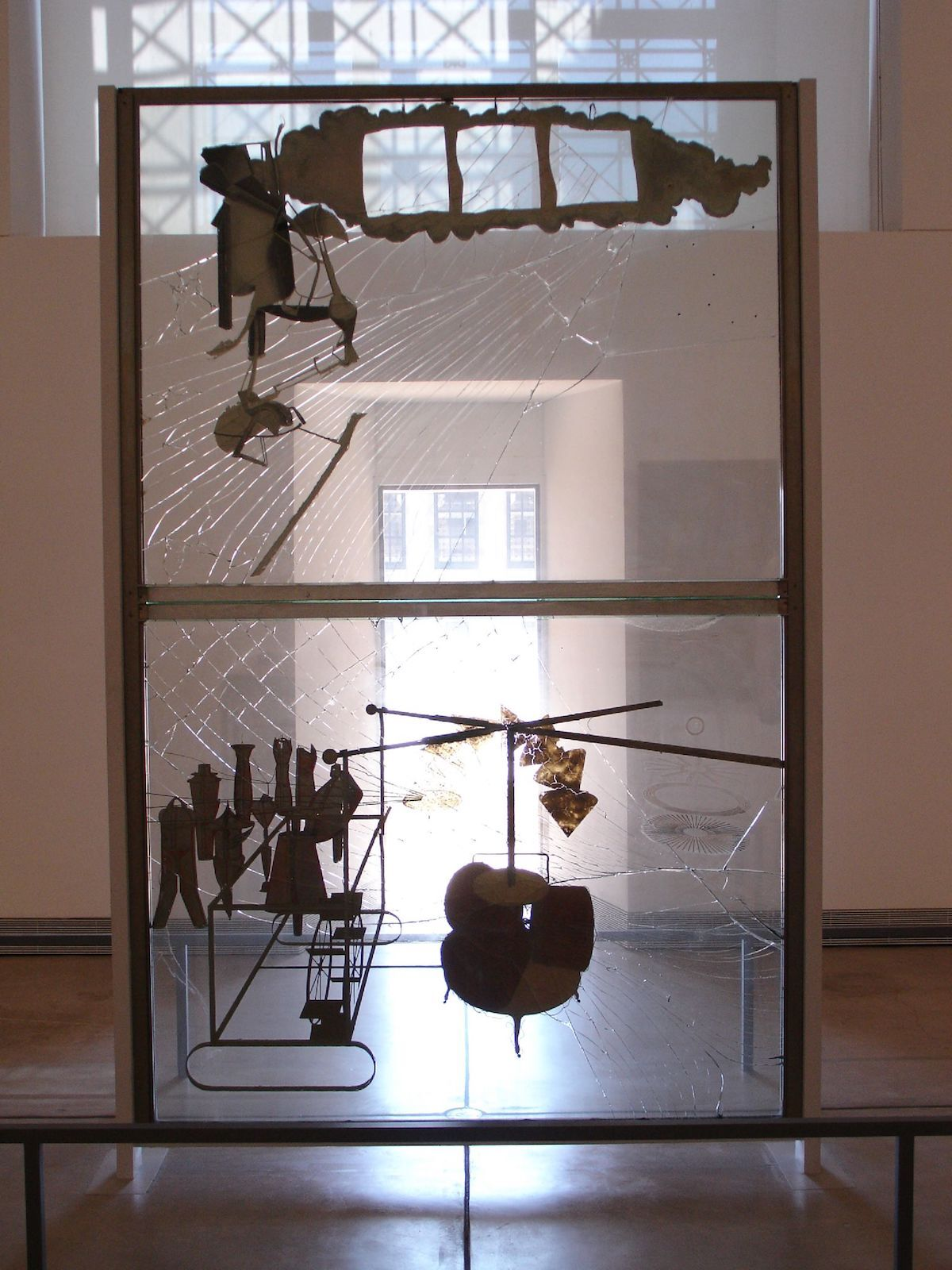 Marcel Duchamp, The Bride Stripped Bare by Her Bachelors, Even (The Large Glass), 1923. Philadelphia Museum of Art. Photo by richard winchell, via Flickr.