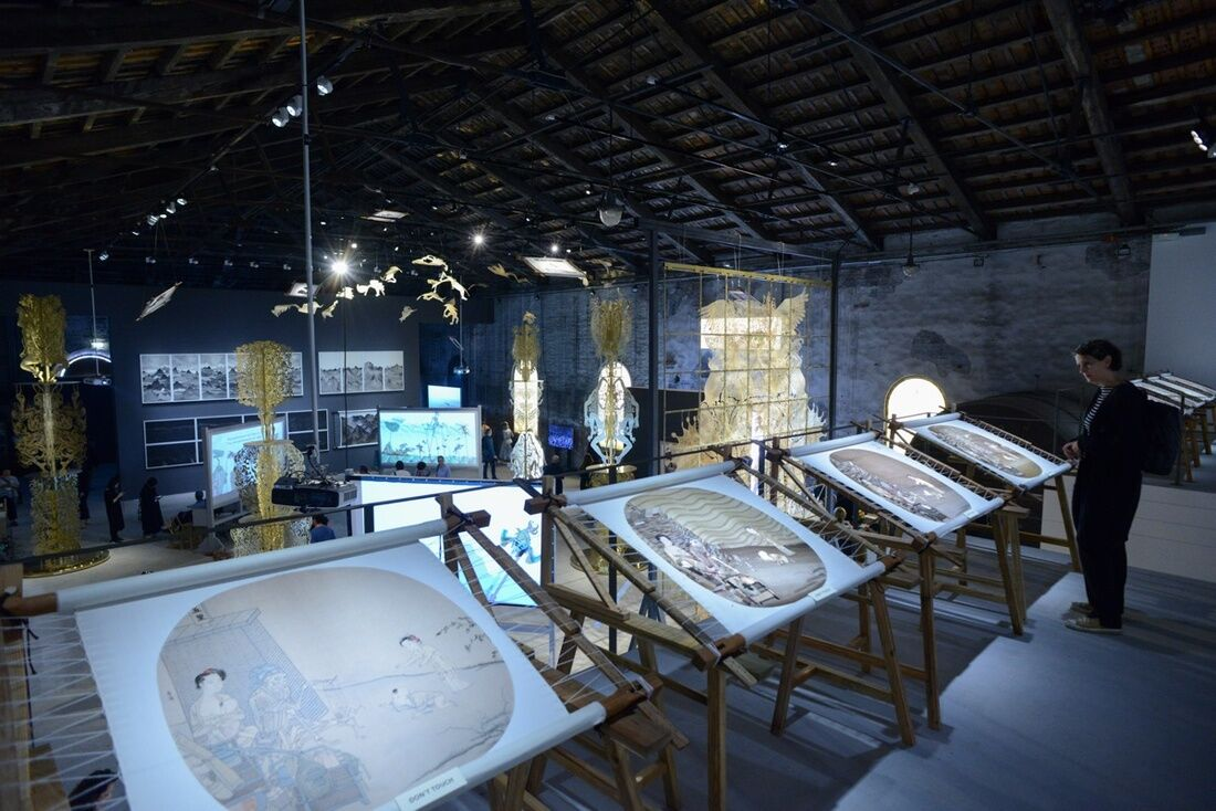 Installation view of the Chinese Pavilion at the 57th Venice Biennale, 2017. Photo by Casey Kelbaugh for Artsy.