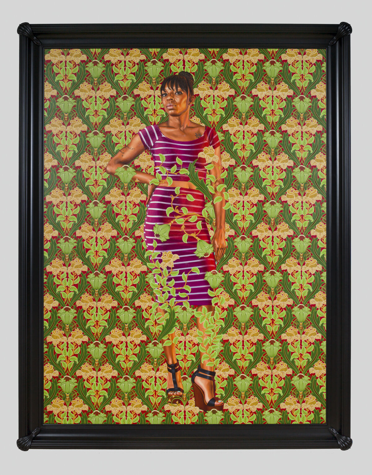Kehinde Wiley, Portrait of a Florentine Nobleman, 2018. © Kehinde Wiley. Photo by Jean-Paul Torno. Courtesy of the artist; Roberts Projects, Los Angeles, California; and Crystal Bridges Museum of American Art, Bentonville, Arkansas.