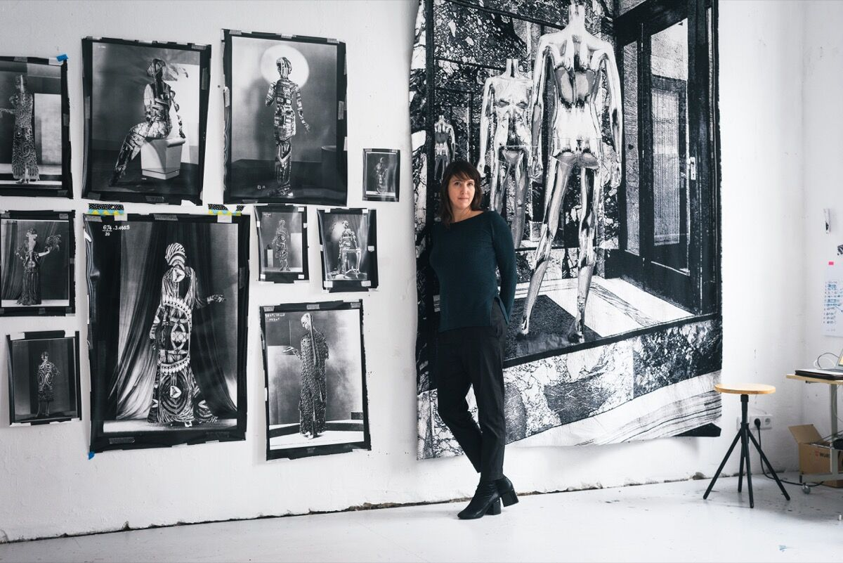 Portrait of Shannon Bool in her Berlin studio by Wolfgang Stahr for Artsy.
