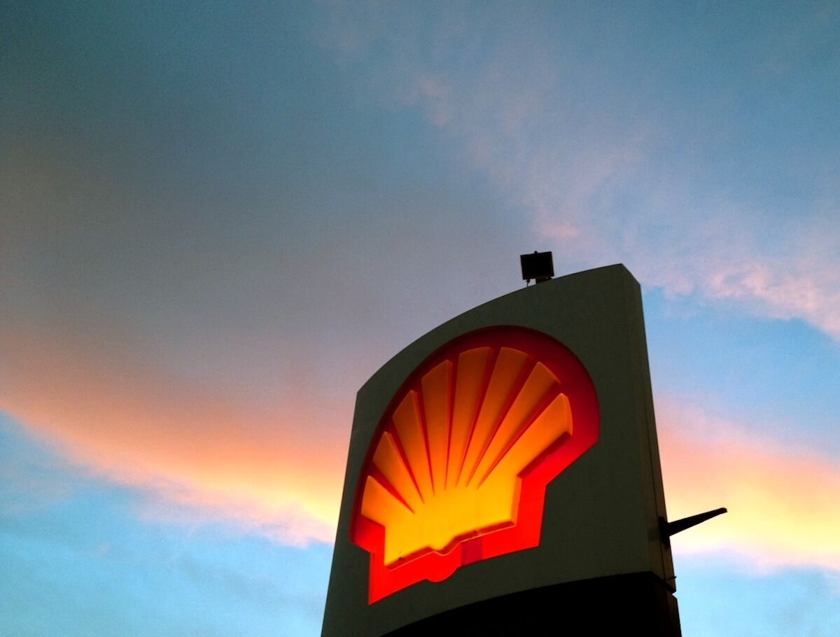 A Shell station sign. Photo by Nopple, via Wikimedia Commons.
