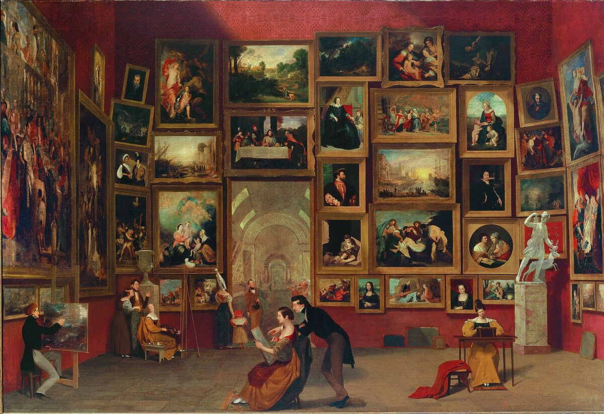 Samuel F.B. Morse, Gallery of the Louvre, 1831–1833. Image: Wikimedia Commons
