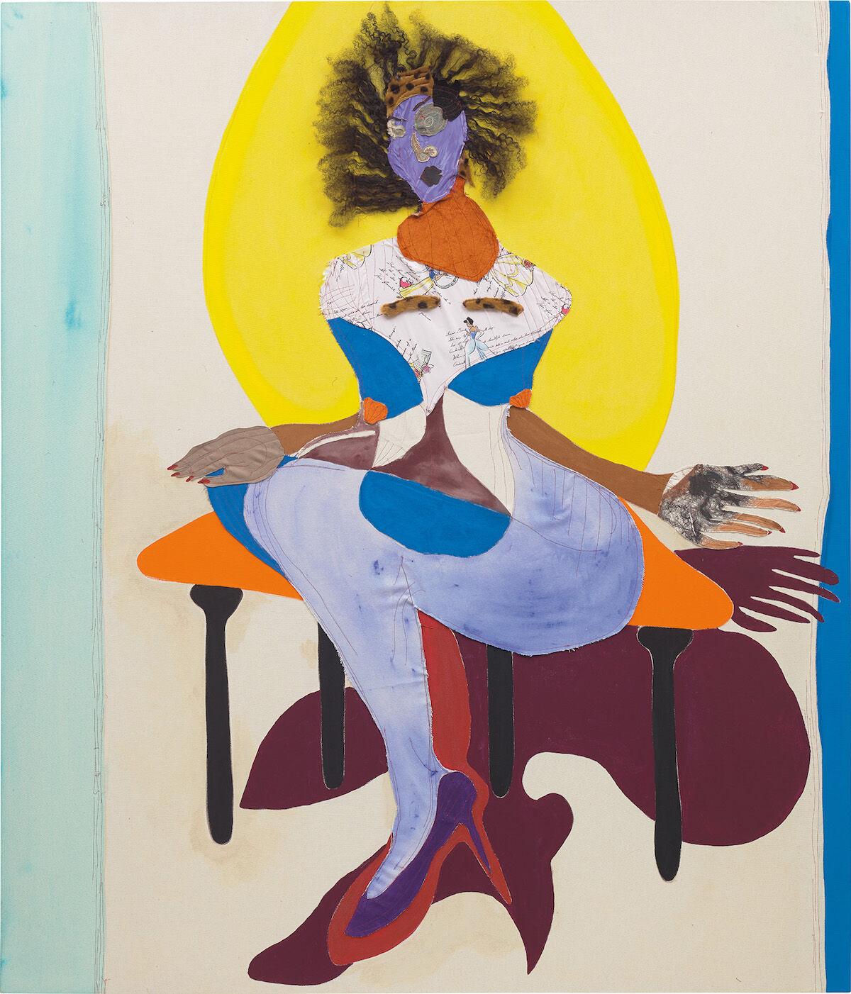 Tschabalala Self, Princess, 2017. Sold for £435,000 ($562,000). Courtesy Phillips.