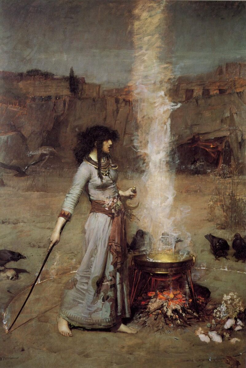 John William Waterhouse, The Magic Circle, 1886. Image via Wikimedia Commons.