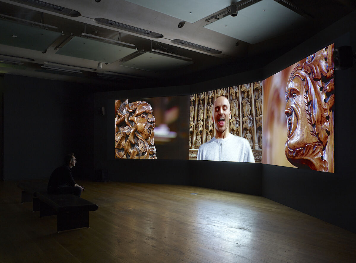 Sonia Boyce, For you, only you, 2007. Installation view. Three-channel video installation. © Sonia Boyce. All Rights Reserved, DACS/Artimage 2020. Photo by Mike Pollard.