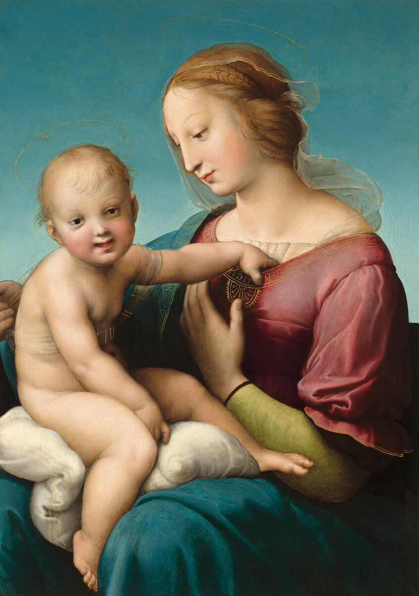 Raphael, The Niccolini-Cowper Madonna, 1508. Courtesy of the National Gallery of Art.