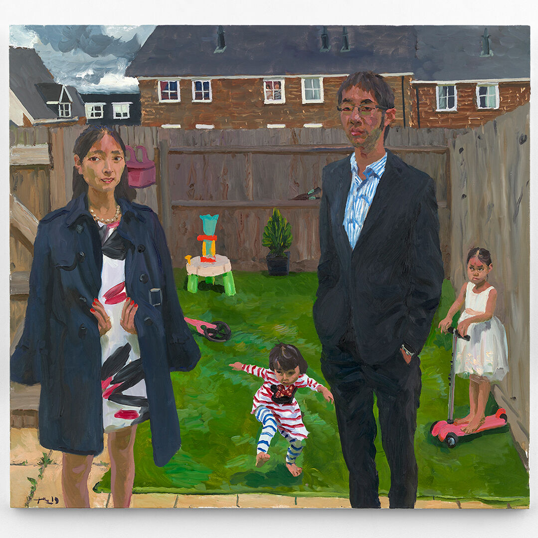 Liu Xiaodong, Geoffrey 和他的家庭 (Geoffrey and his Family), 2019. Courtesy of the artist and Massimo De Carlo, Milan/London/Hong Kong.