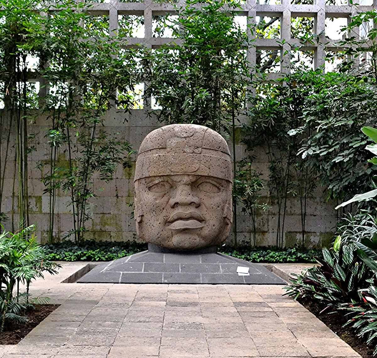 Olmec Head, San Lorenzo, No. 1, 1200-900 B.C.E. Photo via Wikimedia Commons.