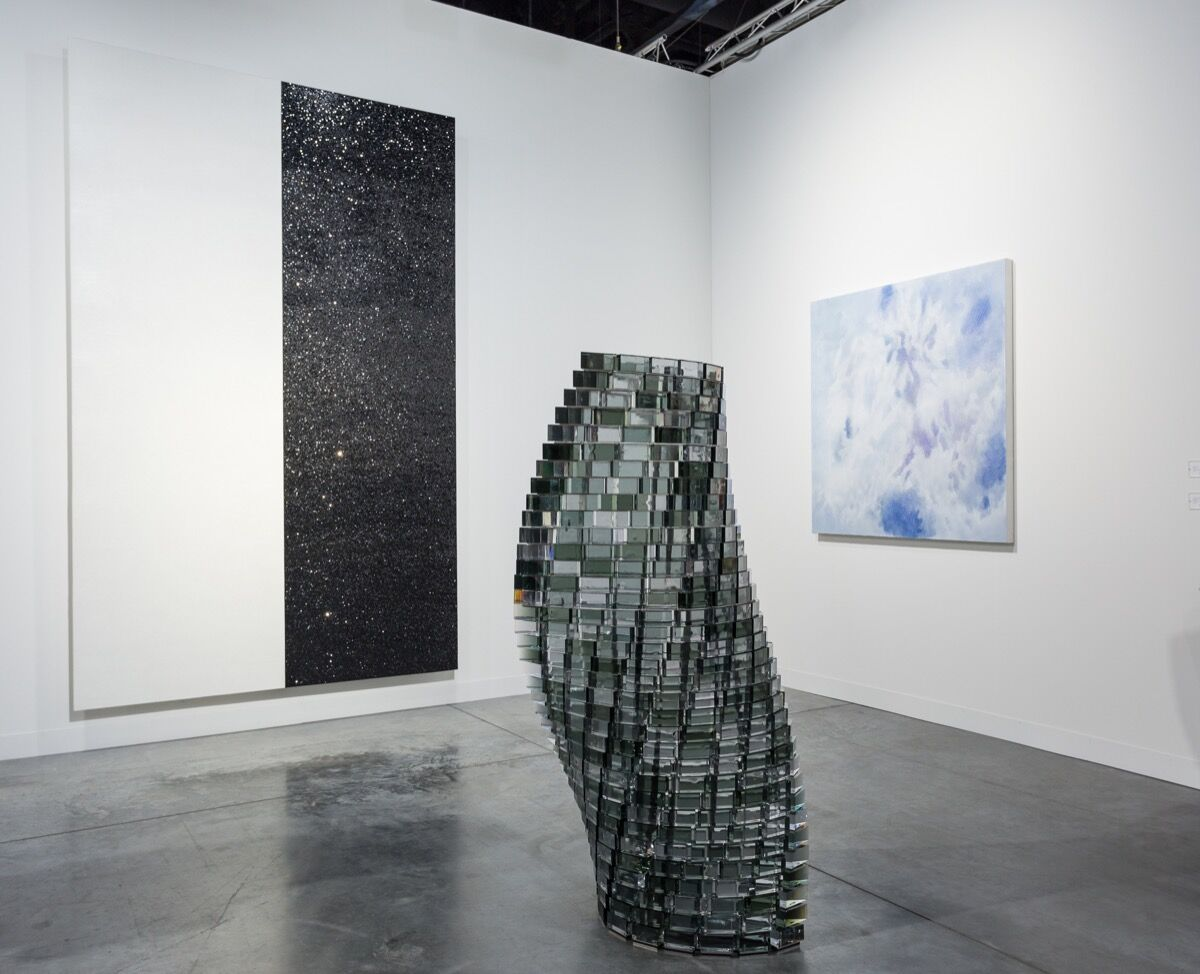 Installation view of Lehmann Maupin's booth at Art Basel in Miami Beach, 2017. Photo by Alain Almiñana for Artsy.