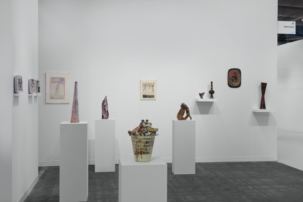 Installation view of Repetto Gallery's booth at The Armory Show, New York, 2020. Courtesy of Repetto Gallery, London.