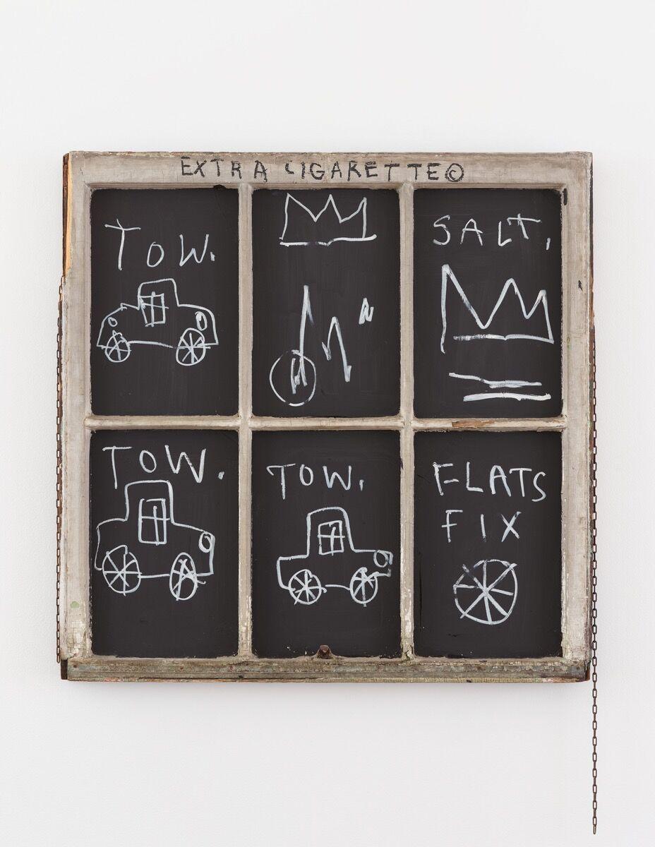 Jean-Michel Basquiat, Extra Cigarette, 1982. Courtesy of Lévy Gorvy.