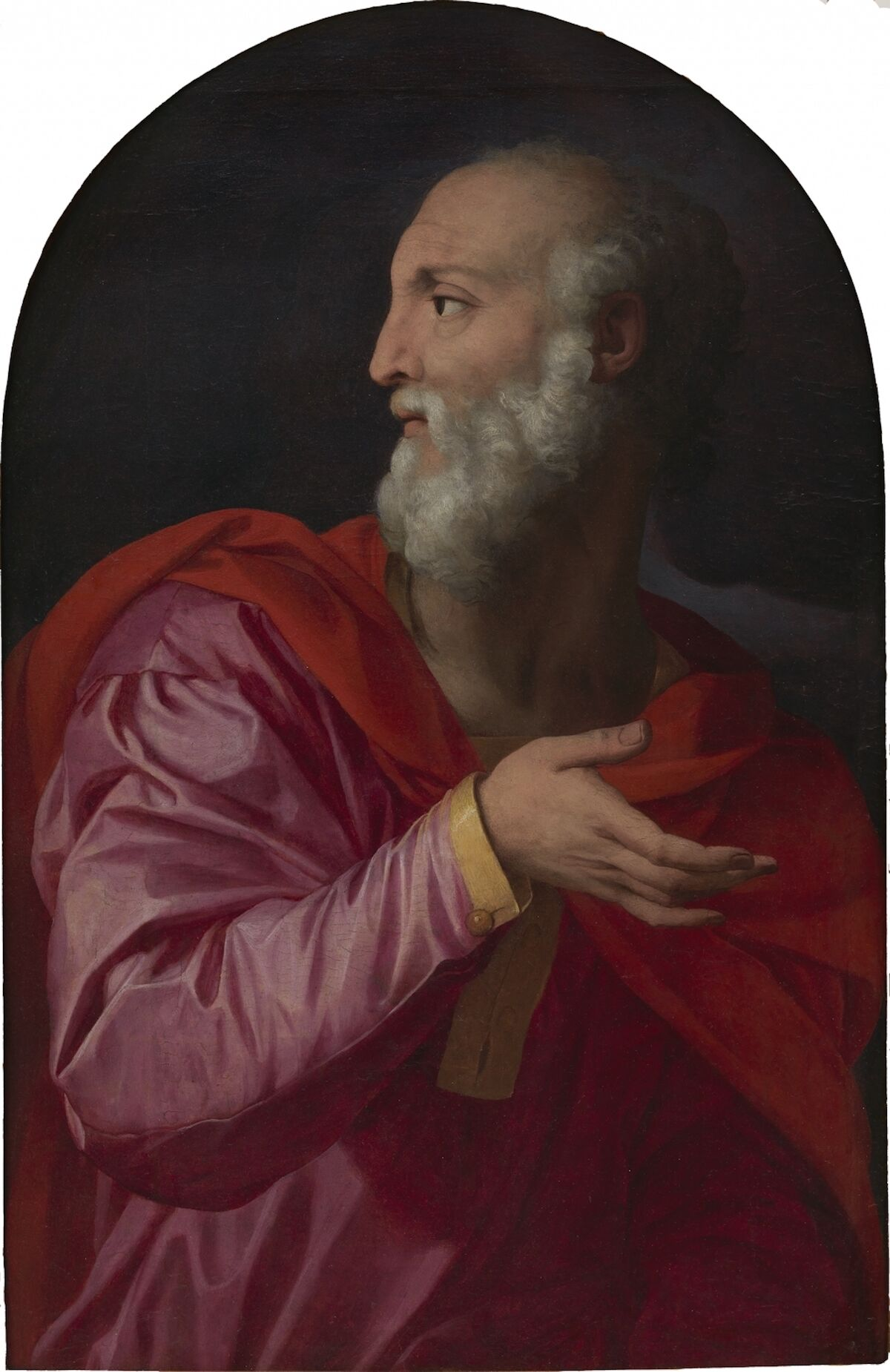 A painting of Saint Cosmas attributed to Bronzino. Courtesy the Alana Collection.