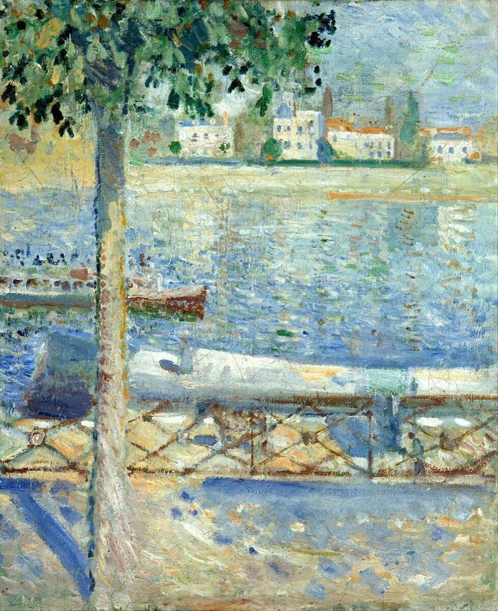 Edvard Munch, The Seine at Saint-Cloud, 1890. Via Wikimedia Commons.