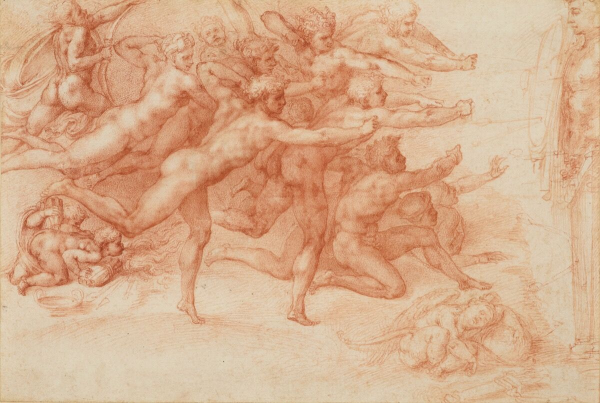 Michaelangelo Buonarroti, Archers Shooting at a Hern, 1530-33. Courtesy of the Metropolitan Museum of Art.