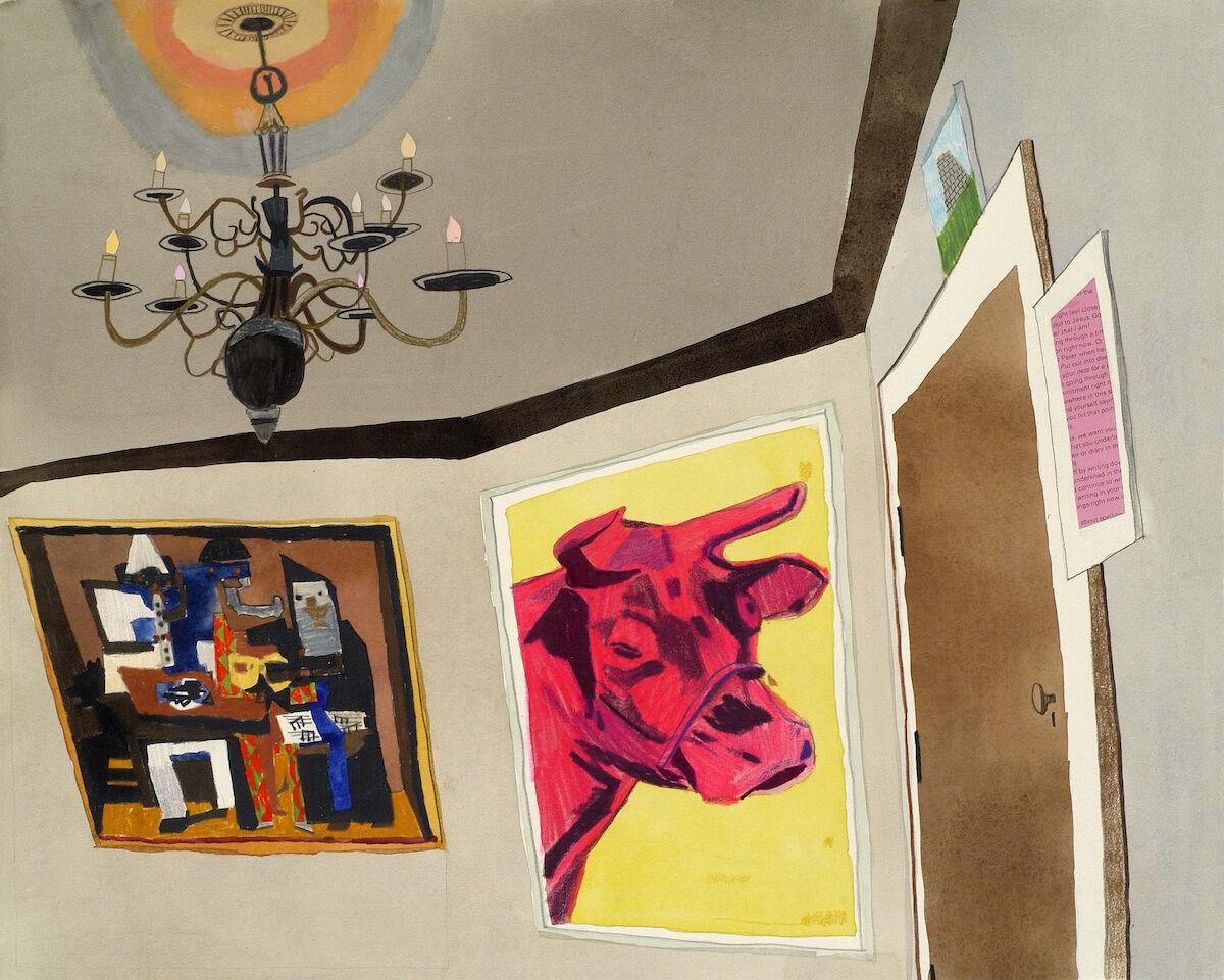 Jonas Wood, Ideal Living Room, 2006. © Jonas Wood. Courtesy of the artist and Black Dragon Society.
