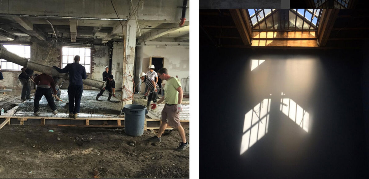 The soon-to-open Bushwick space under construction. Courtesy of Enlightenment Wines (@enlightenmentwines).