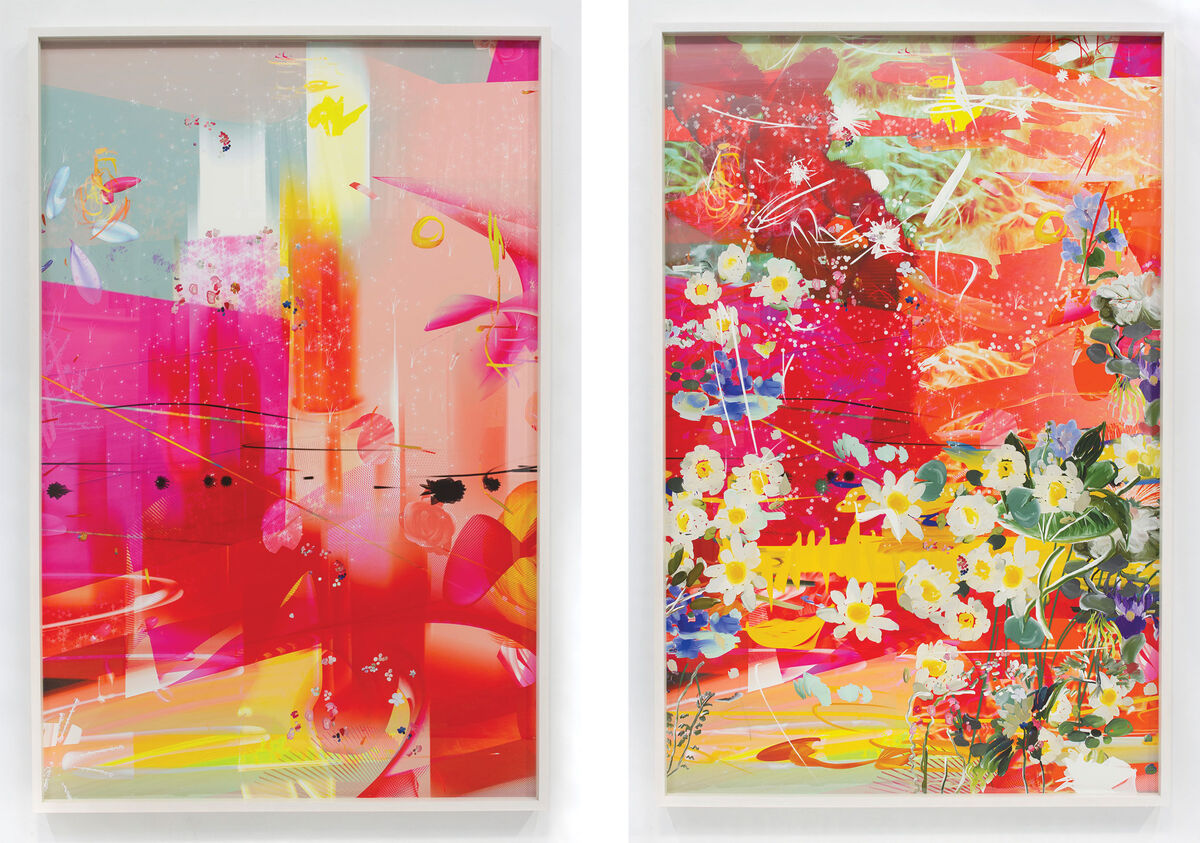 Left: Petra Cortright, KRNKNKSSNBTRGVRGLCH_archive.LZ, 2015; Right: Petra Cortright, 1872HRPR'SWKLLPHNTRPBLCNS_failsafes.SAB, 2016. Images courtesy of the artist and Ever Gold [Projects].