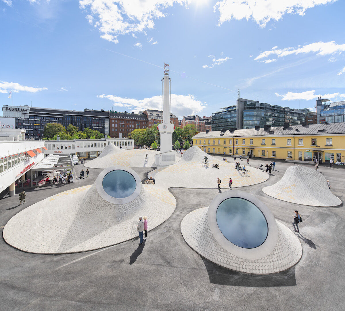 The exterior of the Amos Rex museum in Helsinki. Photo by Mika Huisman, courtesy Amos Rex.