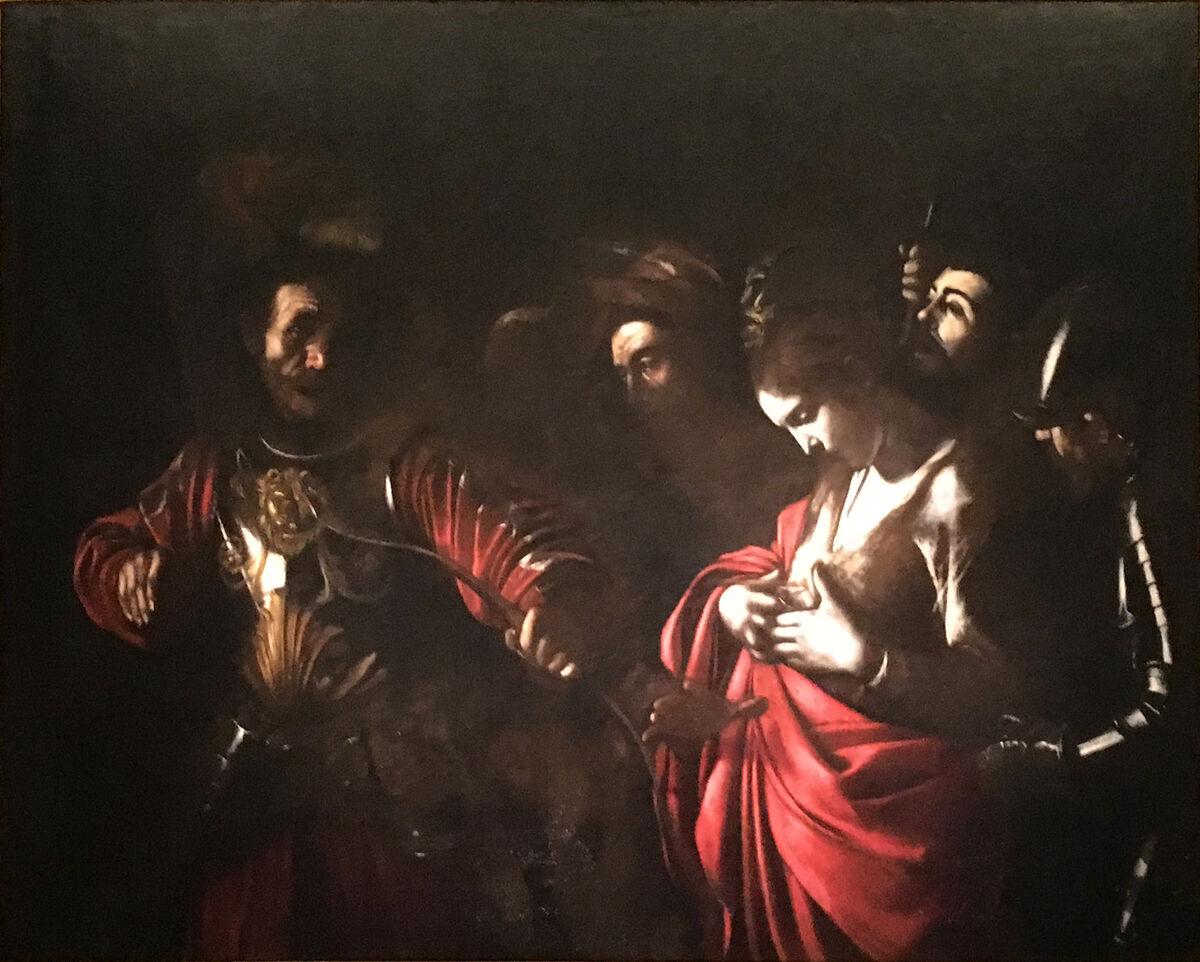 Caravaggio, The Martyrdom of Saint Ursula, 1610. Image via Wikimedia Commons.