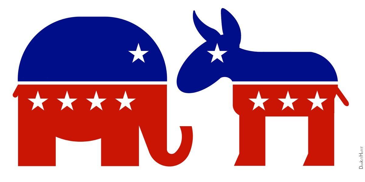 Republican Elephant & Democratic Donkey Icons, via Flickr.