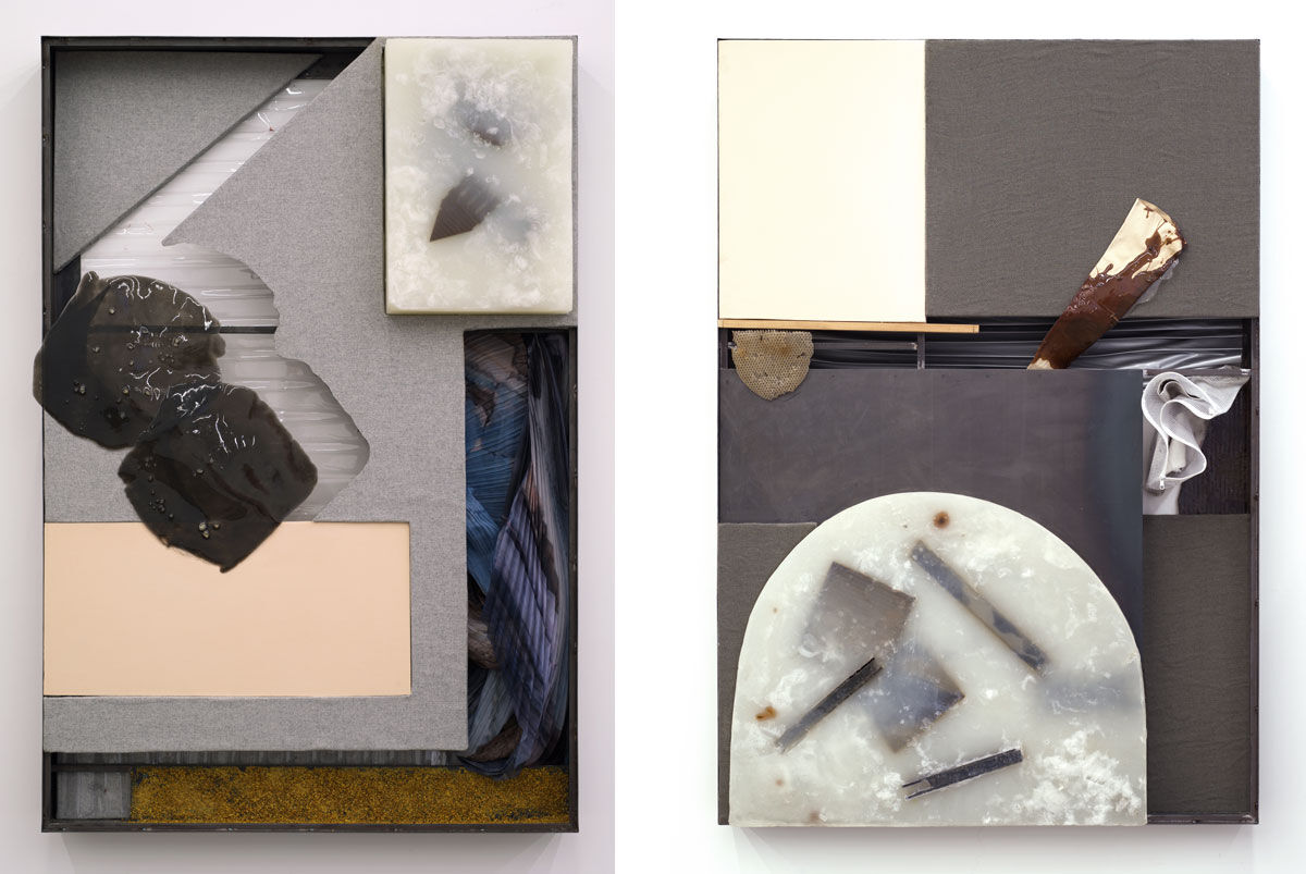 Left:Olivia Erlanger, Raft of Burnt Ruby Copal, 2016; Right:Olivia Erlanger, Raft for Lotophagi, 2016. Images courtesy of the artist.